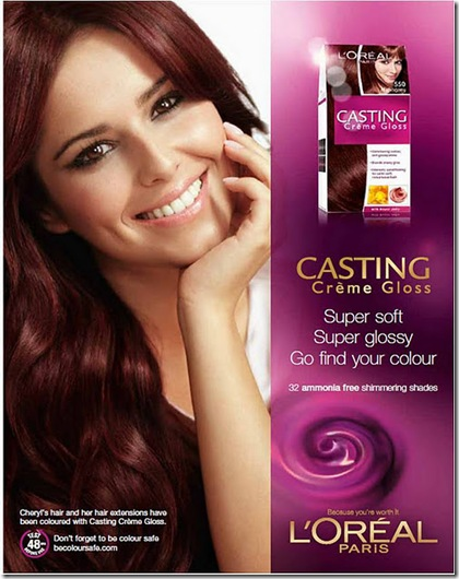 Cheryl Cole L'Oreal Casting Creme Gloss Competition