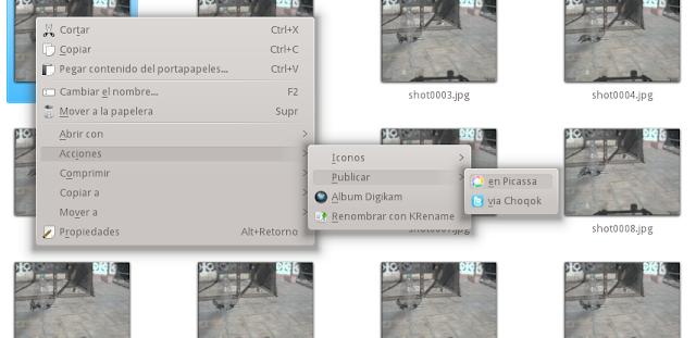 Menú de contexto KDE3