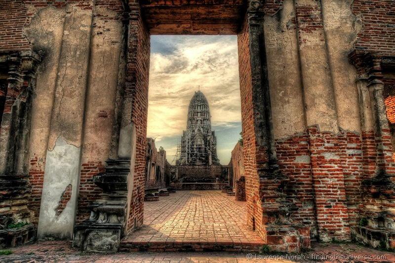 Wat Ratchaburana Prang Ayutthaya Thailand doorway large 2