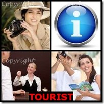 TOURIST- 4 Pics 1 Word Answers 3 Letters