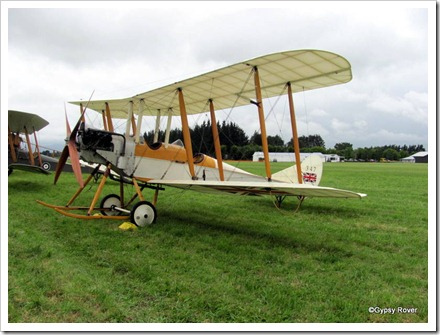 British BE 2C capable of 72MPH over 200 miles.