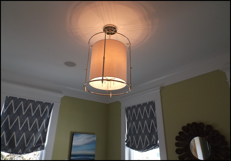 green living room light fixture