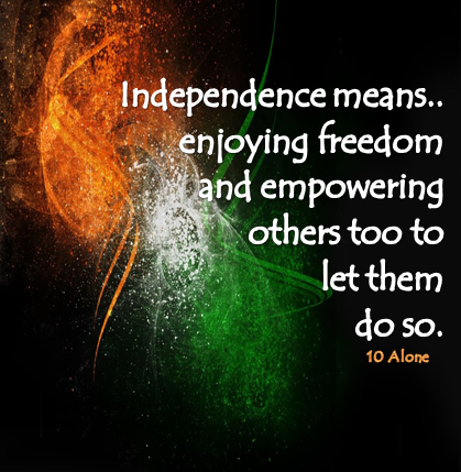 #68th #independence day of #india #HID quote 15 august 2014 wishes vikrmn 10 Alone ca vikram verma chartered accountant author