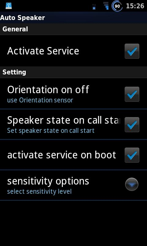 Auto Speaker- screenshot