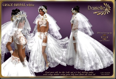 DANIELLE Grace Bridal White'