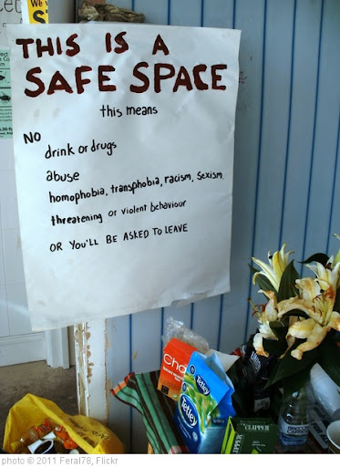 'Safe Space' photo (c) 2011, Feral78 - license: http://creativecommons.org/licenses/by/2.0/