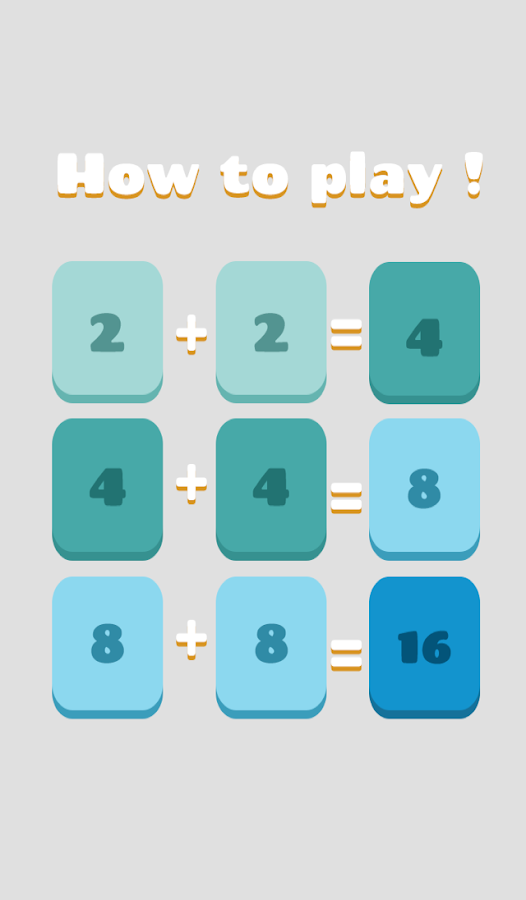 2048 upto 8192 Puzzle Numbers- screenshot