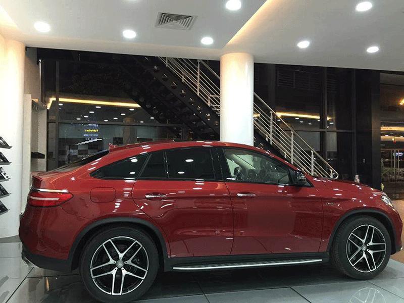 Xe Mercedes Benz GLE 450 2017 Coupe màu đỏ 03