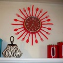 Sunburst Utensil Clock