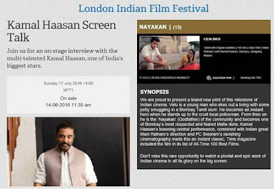 Join Mr Haasan on July 14th London INDIAN Film Festival Team KH