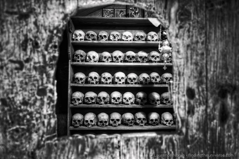 Monk Skulls Monastery Meteora