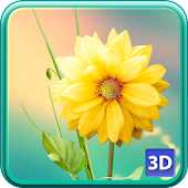 3D Flowers Live Wallpaper