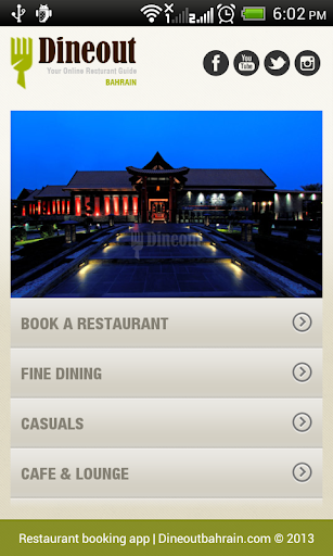 DineOutBahrain -Restaurant App