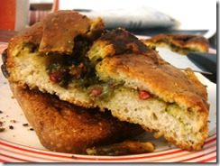 sausage pesto bread