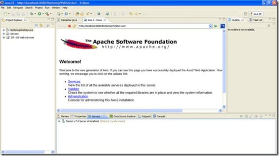 Apache Axis Startup in Eclipse