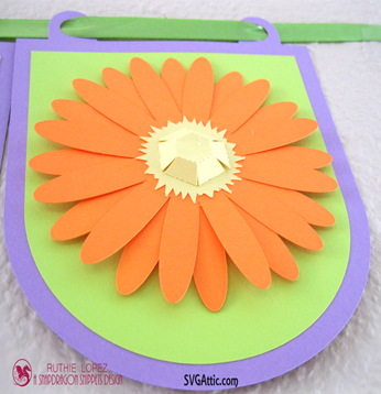 Round Banner - 3D Daisy - Happy Mother´s Day Banner - SnapDragon Snippets - Ruthie Lopez  2