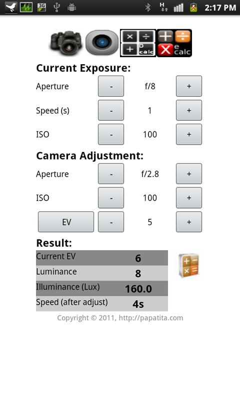 DOF Calculator Plus - screenshot