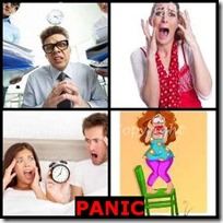 PANIC- 4 Pics 1 Word Answers 3 Letters