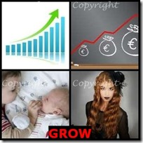 GROW- 4 Pics 1 Word Answers 3 Letters