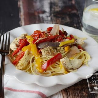 Slow Cooker White Wine and Garlic Chicken.