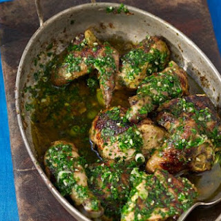 Grilled Chicken With Spicy West Indian Salsa Verde.