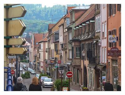 Radtour von Saarbrücken nach Straßburg: Saverne Einkaufsstrasse