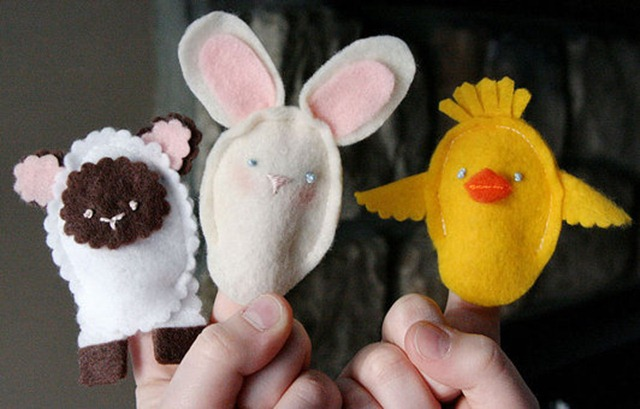 feature easter finger puppets