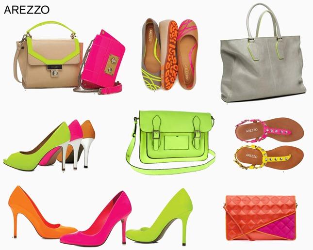 f64742912 Bolsas e sapatos AREZZO com cores Neon para o Verão 2013. | Maria ...