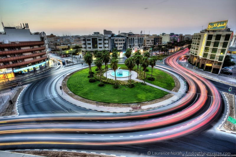 dubai roundabout night lights-smoothed - scaled