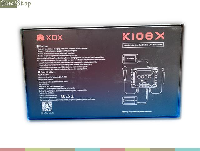 XOX K108X 2018