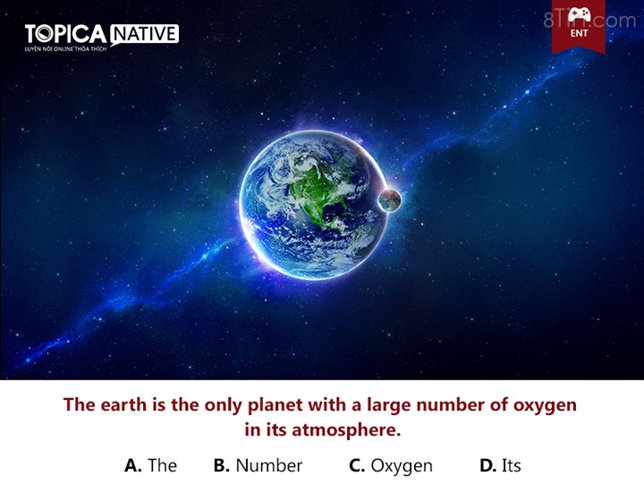 CHỮA LỖI SAI!!! The earth is the only planet with a large