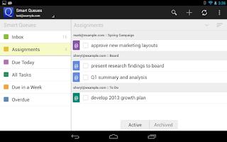 Screenshot of GQueues   Tasks & To-Do Lists