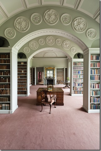 The Book Room at Wimpole Hall, Cambridgeshire.