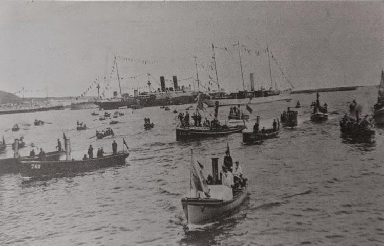 Foto de la llegada de la flota real a Canarias. Archivo FEDAC.jpg