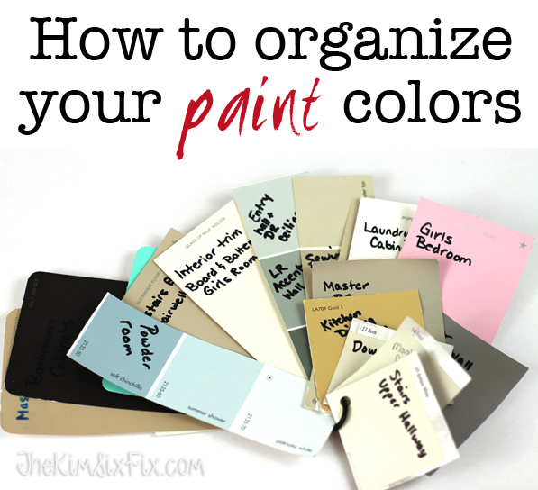 How to Organize your paint colors