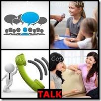 TALK- 4 Pics 1 Word Answers 3 Letters