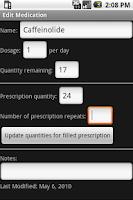 Screenshot of MedRefill