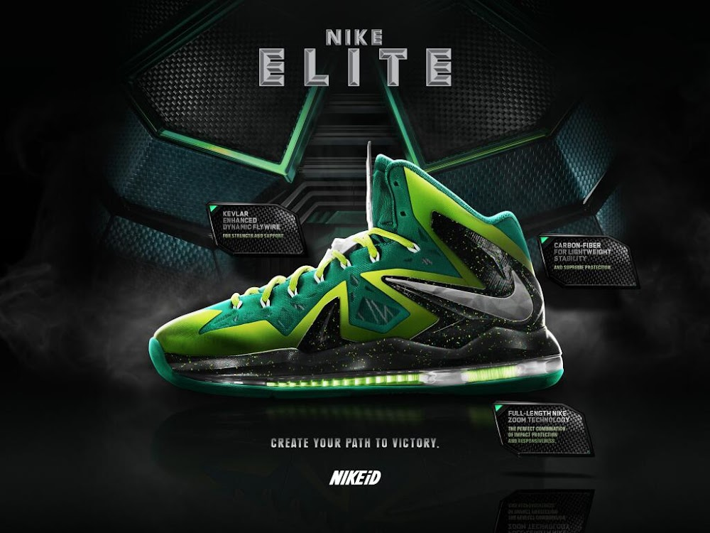 cheap for discount 9677d bec40 ... LeBron X PS Elite iD is Now Available to Customize on Nike iD