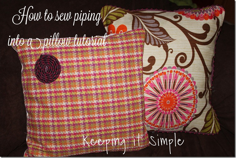 Piping on a pillow