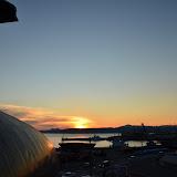 海のくじら館から見た夕日