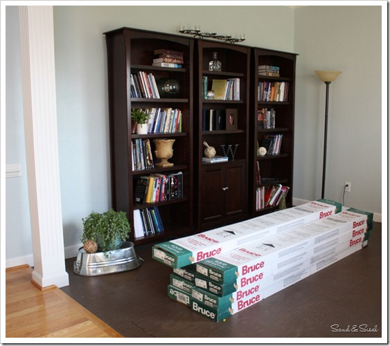 oak flooring boxes