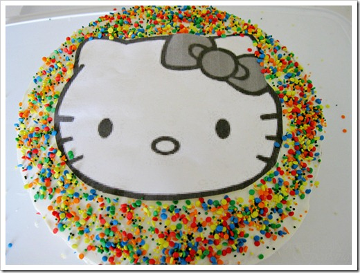Quick Hello Kitty Cake