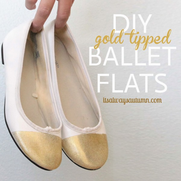 DIY-gold-tipped-sparkly-ballet-flats