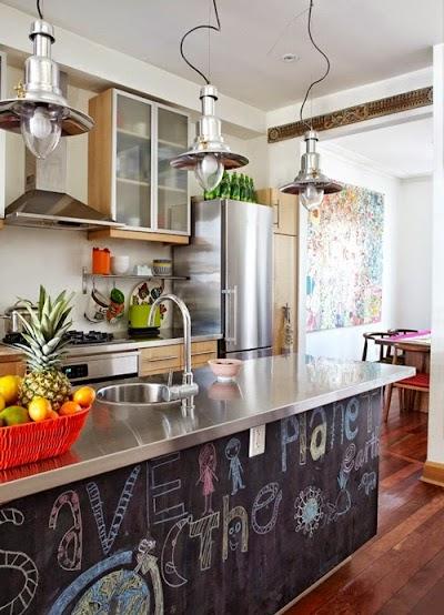 Pintura de pizarra ideas originales para decorar tu casa - Pizarras para decorar ...