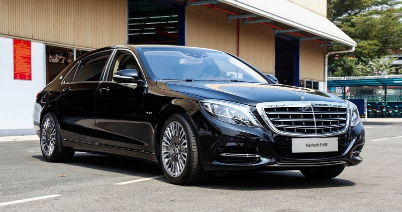 Xe Mercedes Benz S600 MAYBACH màu đen 02