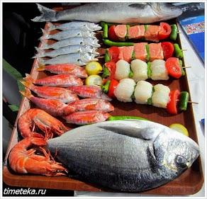 Заказ рыбного блюда в Анадолу Кавагы.