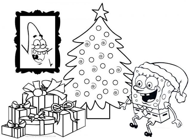 Imagenes De Bob Esponja En Navidad Para Colorear Bob Esponja