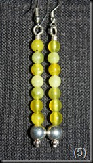 Olive Jade sterling sliver earrings.