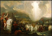 Joshua passing the River Jordan with the Ark of the Covenant, by Benjamin West 1800