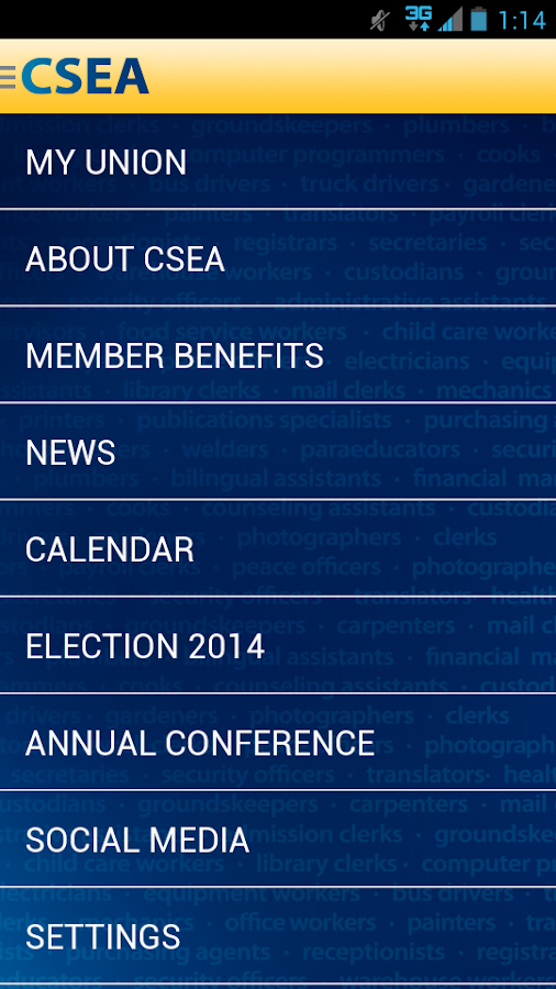 CSEA- screenshot